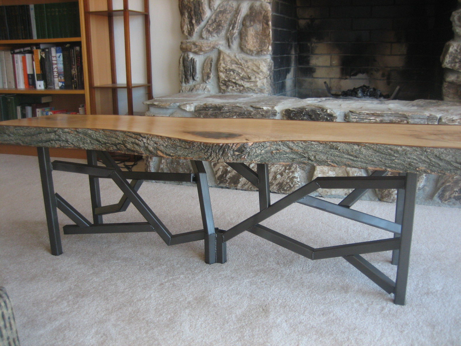 My new live edge glass coffee table woodworking Legs for a coffee table