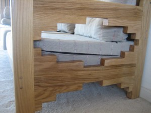 Re-furnished white oak couch