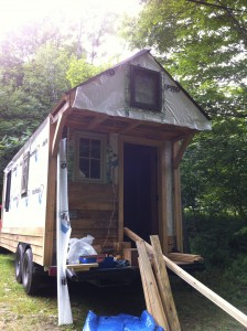 Porch (back-side) of tiny home